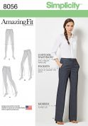 Simplicity Ladies Sewing Pattern 8056 Amazing Fit Shorts, Jeans & Trouser Pants