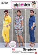 Simplicity Ladies Sewing Pattern 8060 Long & Short Jumpsuits