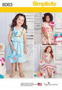 Simplicity Girls Sewing Pattern 8063 Summer Dresses & Matching Bags