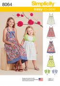 Simplicity Girls Easy Sewing Pattern 8064 Summer Dresses & Bolero