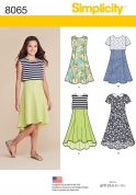 Simplicity Girls Easy Sewing Pattern 8065 Dresses & Over Bodice