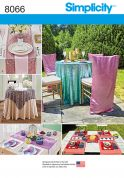 Simplicity Home Easy Sewing Pattern 8066 Tableware & Chair Covers