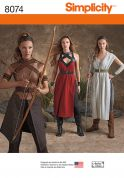 Simplicity Ladies Sewing Pattern 8074 Warrior Costumes