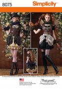 Simplicity Ladies Sewing Pattern 8075 Steampunk Costumes