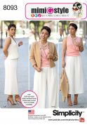 Simplicity Ladies Sewing Pattern 8093 Top, Jacket & Trouser Suit