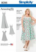 Simplicity Ladies Sewing Pattern 8096 Princess Seam Dresses