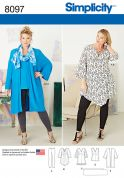 Simplicity Ladies Sewing Pattern 8097 Tunic, Top, Kimono & Leggings