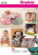 Simplicity Baby Easy Sewing Pattern 8110 Play Mats, Stroller Accessories & Bibs