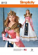Simplicity Ladies Sewing Pattern 8113 Costume with Craft Foam Armor, Belt & Crown
