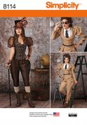 Simplicity Ladies Sewing Pattern 8114 Steampunk Costumes