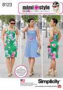 Simplicity Ladies Sewing Pattern 8123 Dresses with Side Button Fastening