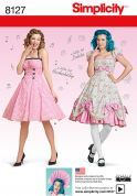 Simplicity Ladies Sewing Pattern 8127 Lolita & Rockabilly Dresses