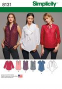 Simplicity Ladies Sewing Pattern 8131 Bow Blouses with Sleeve Variations