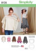 Simplicity Ladies Easy Sewing Pattern 8135 Skirt in Three Lengths & Tunic Top