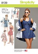 Simplicity Ladies Sewing Pattern 8139 Vintage Style Bathing Dress & Beach Coat