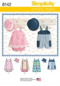 Simplicity Baby Easy Sewing Pattern 8142 Romper in Two Lengths, Jumper, Panties & Hat