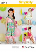 Simplicity Girls & Doll Clothes Sewing Pattern 8144 Jumpsuits & Dresses