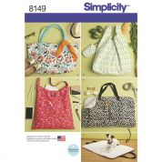 Simplicity Accessories Easy Sewing Pattern 8149 Tote Bags & Dog Travel Bed