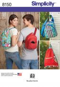 Simplicity Accessories Sewing Pattern 8150 Bag Backpacks in Two Styles