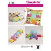 Simplicity Crafts Easy Sewing Pattern 8156 Stuffed Animal Toys & Pillow House