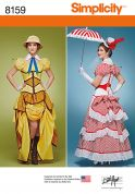 Simplicity Ladies Sewing Pattern 8159 Cosplay Costumes Dresses with Corsets