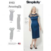 Simplicity Ladies Sewing Pattern 8163 Fitted Special Occasion Dresses