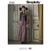 Simplicity Ladies Sewing Pattern 8165 Maxi Dress with Lined Waistcoat & Tie
