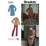 Simplicity Ladies Sewing Pattern 8166 Dress, Tunic Top, Skirt & Pants