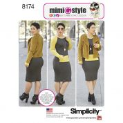 Simplicity Ladies Sewing Pattern 8174 Lined Jacket & Jersey Knit Dress