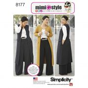 Simplicity Ladies Sewing Pattern 8177 Trousers, Coat, Waistcoat & Jersey Knit Top
