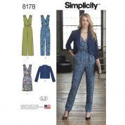 Simplicity Ladies Sewing Pattern 8178 Jumpsuits, Dress & Jacket