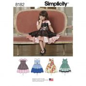 Simplicity Girls Sewing Pattern 8182 Special Occasion Party Dresses