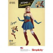 Simplicity Ladies Sewing Pattern 8185 Bombshells Super Girl Costume