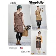 Simplicity Ladies Sewing Pattern 8186 Wrap Dresses & Slip Dress