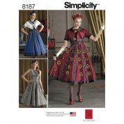 Simplicity Ladies Sewing Pattern 8187 Dresses & Cropped Jacket