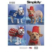 Simplicity Pets Easy Sewing Pattern 8189 Dog Costumes in Three Sizes