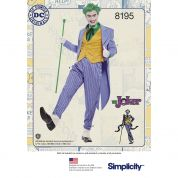 Simplicity Mens Sewing Pattern 8195 Joker Costume