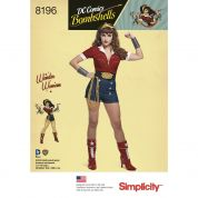 Simplicity Ladies Sewing Pattern 8196 Bombshells Wonder Woman Costume