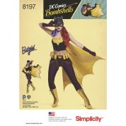 Simplicity Ladies Sewing Pattern 8197 Bombshells Batgirl Costume