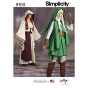 Simplicity Ladies Sewing Pattern 8199 Gaming Warrior Costumes