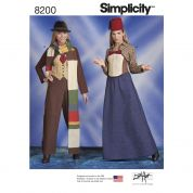 Simplicity Ladies Sewing Pattern 8200 Doctor Who Themed Costumes