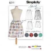 Simplicity Ladies Easy Sewing Pattern 8211 Dirndl Skirts in Three Lengths