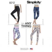 Simplicity Ladies Easy Sewing Pattern 8212 Jersey Knit Leggings