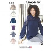 Simplicity Ladies Sewing Pattern 8215 Bow or Collared Blouse Tops