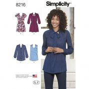 Simplicity Ladies Sewing Pattern 8216 Mini Dresses & Tunic Tops