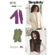 Simplicity Ladies Easy Sewing Pattern 8218 Jackets & Waistcoats