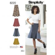 Simplicity Ladies Easy Sewing Pattern 8220 Skirts in Three Lengths