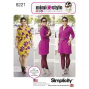 Simplicity Ladies Sewing Pattern 8221 Button Up Detail Dresses