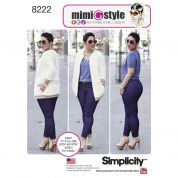 Simplicity Ladies Sewing Pattern 8222 Bomber Jacket & Stretch Skinny Jeans