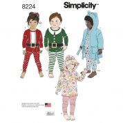 Simplicity Childrens Sewing Pattern 8224 Tops, Knit Pants & Dressmaking Gown